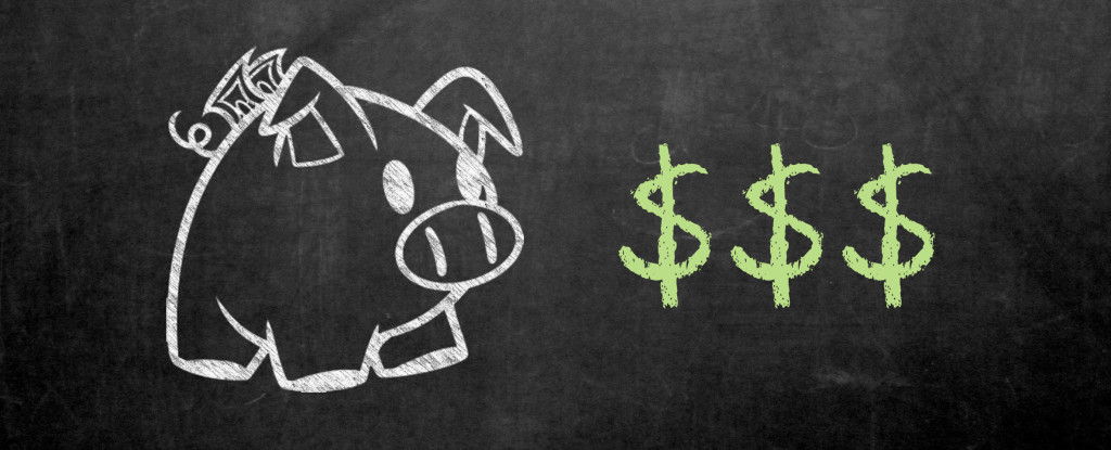 Educação financeira - Cofrinho de dinheiro
